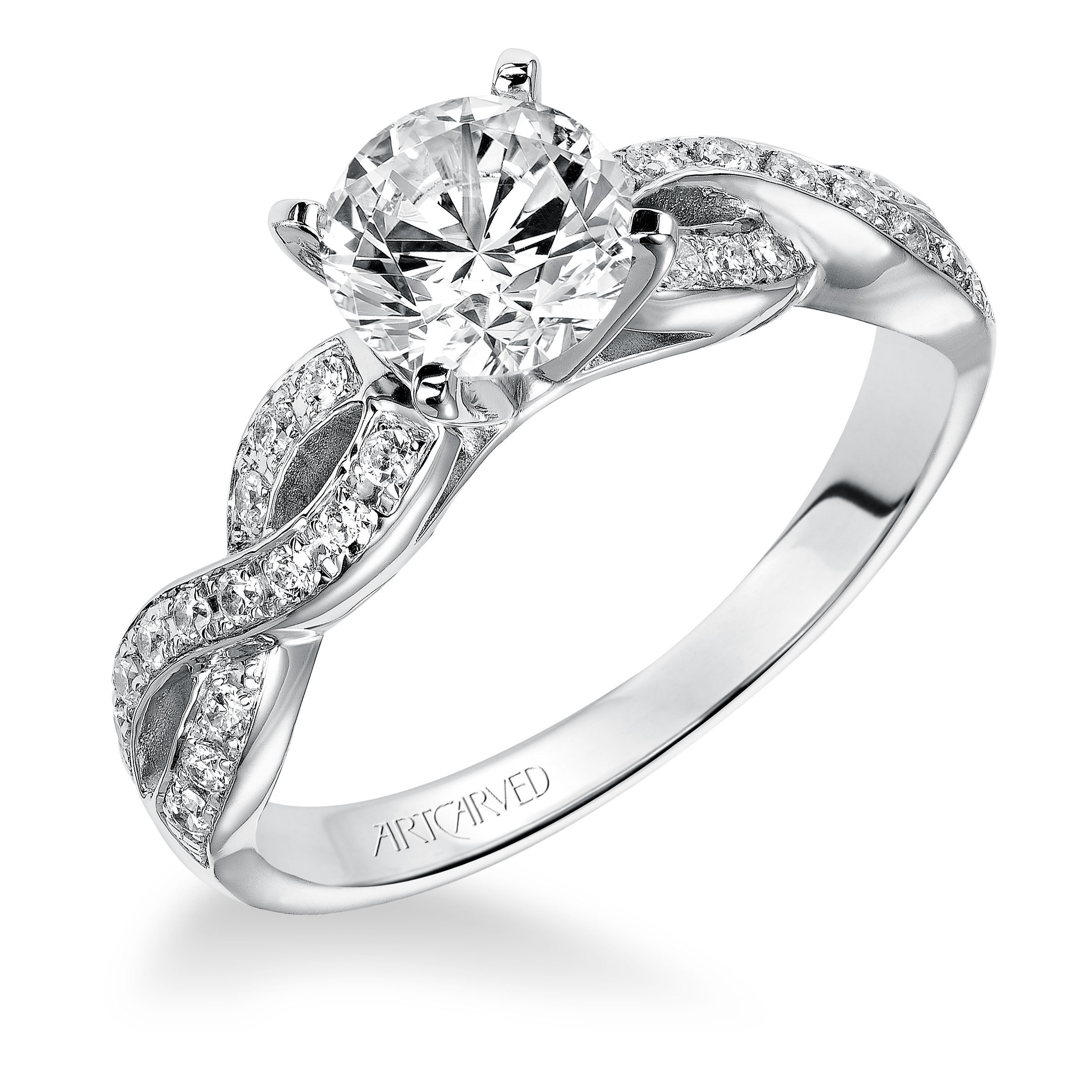 solitaire diamond of bands ring new engagement kay platinum wedding gold scott best h center rings