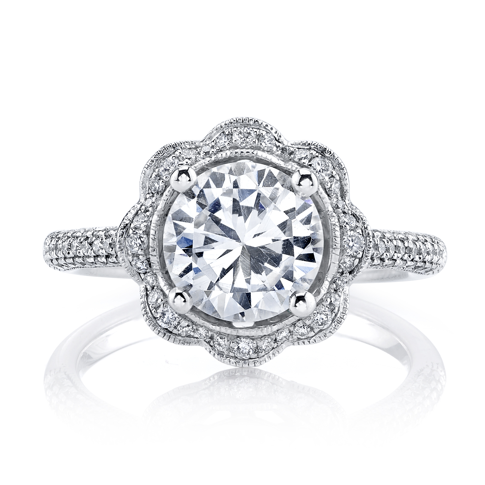 tacori ring white picture gold diamond product rings three stone of designs engagement